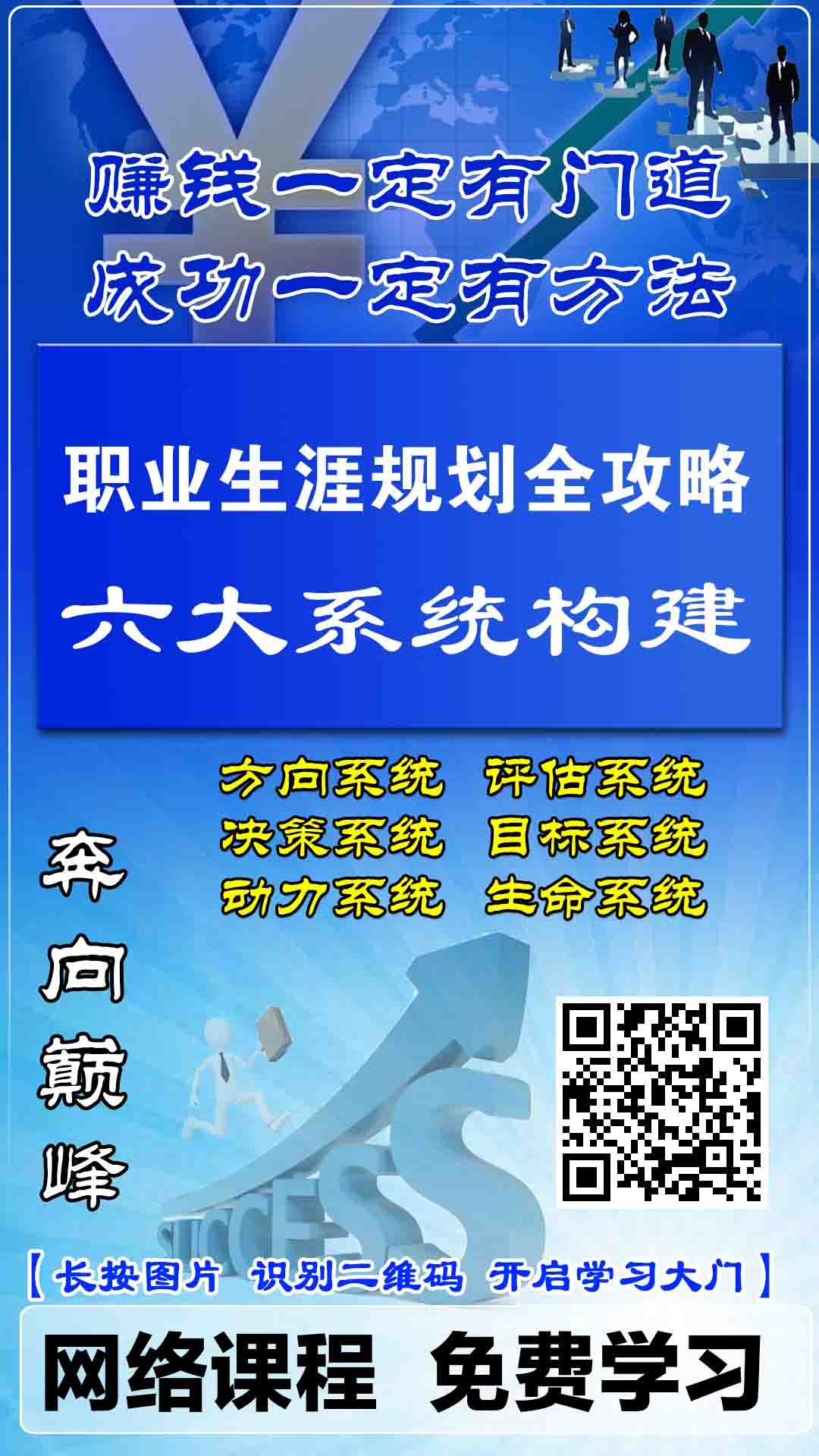 NO.BQBK001_【全集】《职业生涯规划全攻略-六大系统构建》